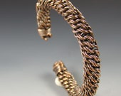 Antiqued Copper Bracelet...Cuff Style...Adjustable Size
