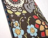 retro chic floral checkbook cover