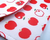 red apple card wallet