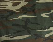 Handmade Camo Camoflauge Crib Skirt  - Pleated or Straight
