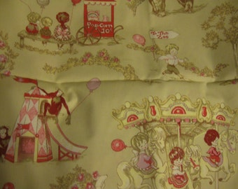 """Crib Skirt """"To the Zoo"""" - Pleated or Straight - Carousel - Elephant - Popcorn"""
