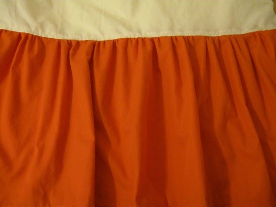 Handmade Solid Color Crib Skirt Dust Ruffle By