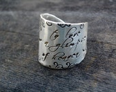 Signature Wide Band Message Adjustable Ring by donnaodesigns
