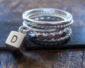 Alphabet Block Stacking Ring Set by donnaodesigns