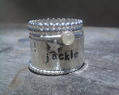 Custom Hand Stamped Stacking Ring Set for dann2