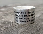 Serenity Prayer Wide Band Ring exclusively by donnaodesigns