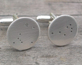 Canis Major and Pleiades Constellations Cufflinks for sugarmagnolia78