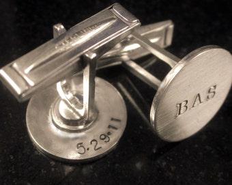 Hidden Message Sterling Cufflinks for mdweiner121