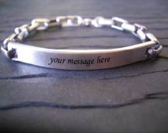 Personalized Hidden Message ID Bracelet by donnaodesigns