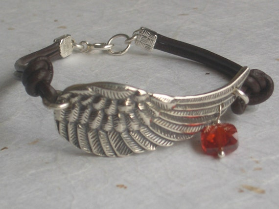 Custom Angel Wing Bracelet for heartfulbeads