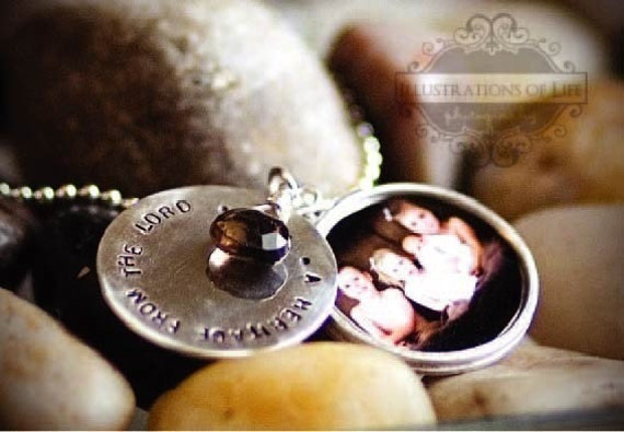 Hand Stamped Sterling Layered Locket by donnaodesigns