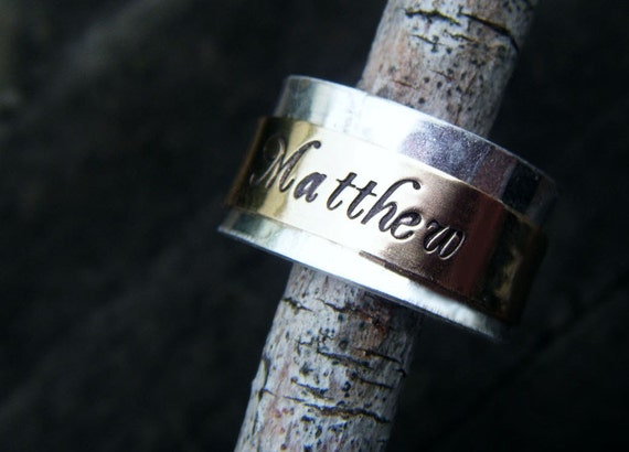 Hand Stamped Sterling Gold Filled Spinner Ring for kaitlinbomar1