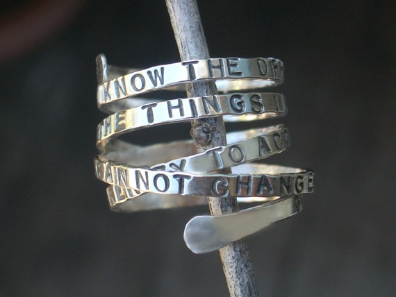 Custom Message Wrap Around Ring by donnaodesigns