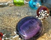 Color Wheel Glass Beaded Bracelet