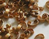 100 Small Brass Connector Links vintage jewelry findings