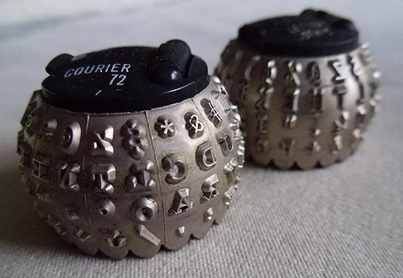 Vintage IBM Selectric Typewriter Balls Elements Courier and Letter Gothic Fonts