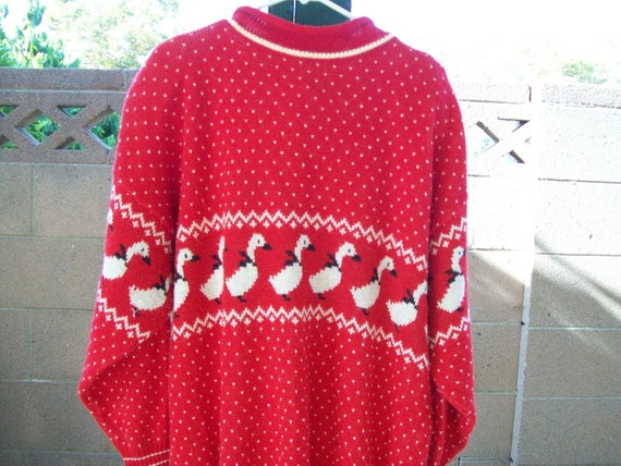 Christmas Sweater 2XX Red Ugly Ducks