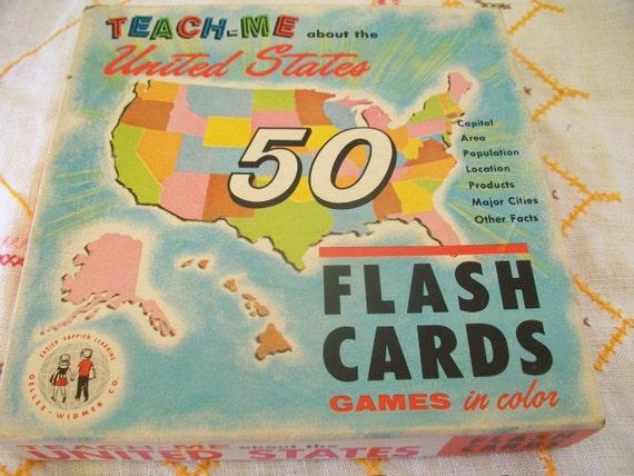 1962 US Flash Cards
