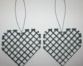 Heart-shaped Bird Nest Builder\/Helper (empty) - Set of Two