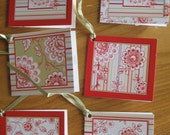 Altered art Mini tags invites or gift tags