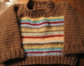 Striped Knit Baby Sweater 3 mo
