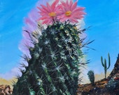Sonoran Desert Bloom - Acrylic on stretched canvas (unframed)