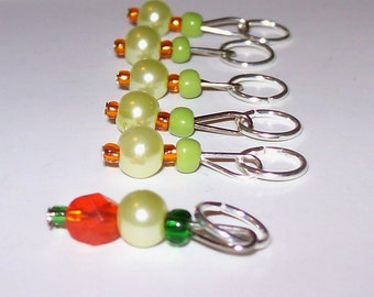 Peas and Carrots stitch markers by AnniePurl