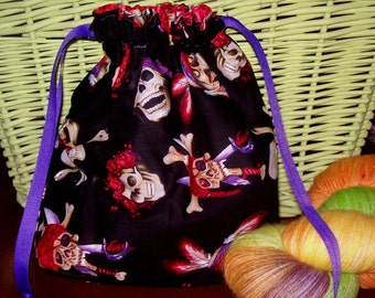 Piratey Goodness project bag by AnniePurl