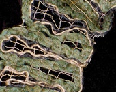 ON SALE Twisted Sister X-Stream Fibers fashion scarf in earth green and black
