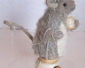 mohair mouse on thread spool