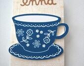 tea cup brooch