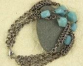 Amazonite Chain Maille Bracelet