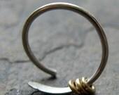 beringed-- custom single earring or nose ring-- primitive series-- handmade by thebeadedlily on etsy