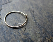 22g nose ring-- 14k solid gold, gold fill or niobium hoop-- primitive series-- handmade by thebeadedlily