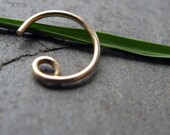 fore-- 20g nose ring-- solid 14k gold-- primitive series