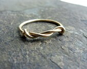 twist-- 14k solid gold ring-- primitive series-- handmade by thebeadedlily on etsy