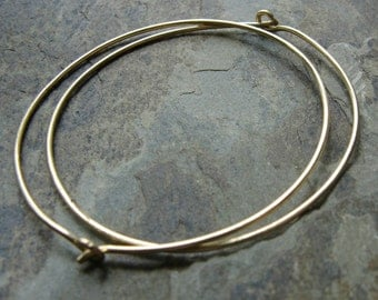 "1.5"" hoop earrings-- primitive series-- handmade by thebeadedlily"