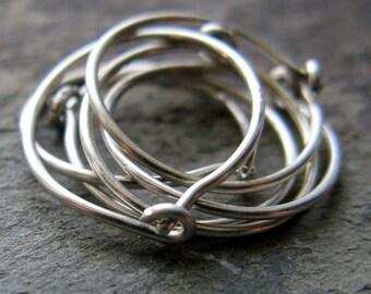 ringeth-- custom hoop earring set-- primitive series-- handmade by thebeadedlily