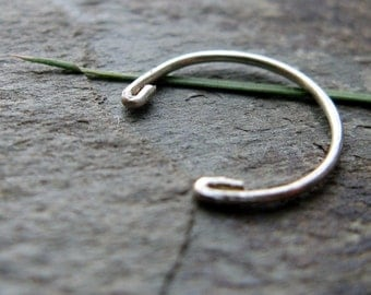 omega-- earring or nose ring-- recycled sterling silver-- primitive series-- handmade by thebeadedlily