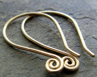 spiralette-- simple custom earrings-- primitive series-- handmade by thebeadedlily