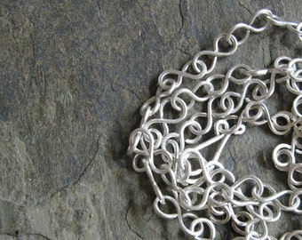 transit-- sterling silver chain necklace-- primitive series-- handmade by thebeadedlily