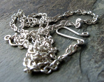 water-- sterling silver or gold fill chain necklace-- primitive series-- handmade by thebeadedlily