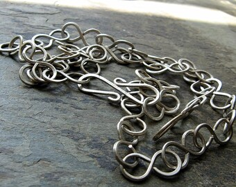 infinite-- recycled sterling silver necklace-- primitive series-- handmade by thebeadedlily