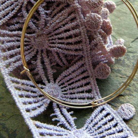 """2"""" hoop earrings-- primitive series-- handmade by thebeadedlily"""