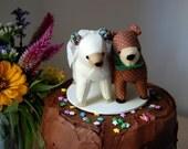 SALE Bear Wedding Cake Topper