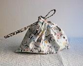 Fox Print Drawstring Bag