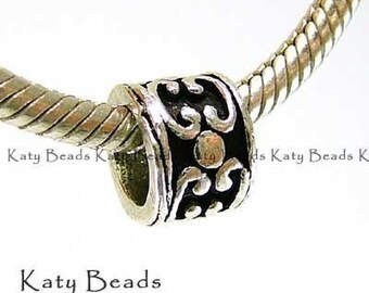 2x Bali Sterling Silver Beads Large Hole fits  Biagi Chamilia Troll Pasha B17