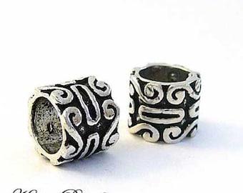 2 Bali Sterling Silver Beads Large Hole fits Biagi Chamilia Troll Pasha B139