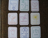 Set of 9 Tags with Jokes - Use in Child's Lunchbox - Lunch Notes