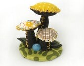 Fabric Topiary with Mushrooms - No. 268
